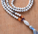 Unique Howlite Onyx Mala Necklace,  Mala, [product_collection], Lila's Beauty Bag