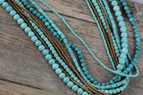 Turquoise Multilayers Necklace,  multi layered necklace, [product_collection], Lila's Beauty Bag
