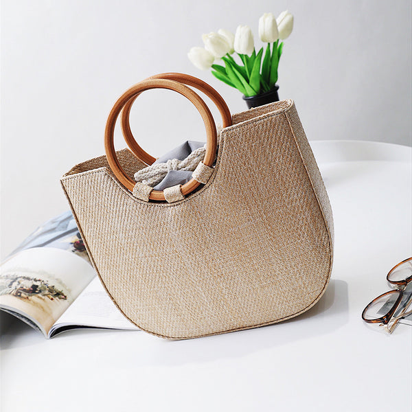New Trend Straw Vacation Bag,  bag, [product_collection], Lila's Beauty Bag