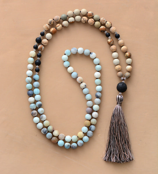 Knot Natural Stones Soft Mala,  Mala, [product_collection], Lila's Beauty Bag