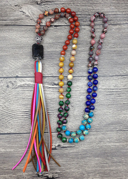 7 Chakra Handmade Mala Necklace,  Mala, [product_collection], Lila's Beauty Bag