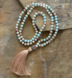 Neutral Precious Stones Yoga Necklace
