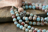 Neutral Precious Stones Yoga Necklace,  Mala, [product_collection], Lila's Beauty Bag