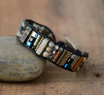 Stones and Crystal Seed Bracelet,  Boho, [product_collection], Lila's Beauty Bag