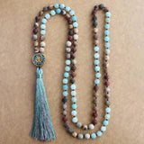 Matte Natural Stone 108 Beads Necklace,  Mala, [product_collection], Lila's Beauty Bag