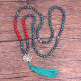 Blue Green Lapis Lazuli Mala,  Mala, [product_collection], Lila's Beauty Bag