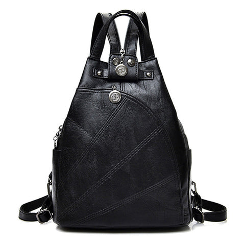Fashion Leisure PU Leather Backpack,  bag, [product_collection], Lila's Beauty Bag