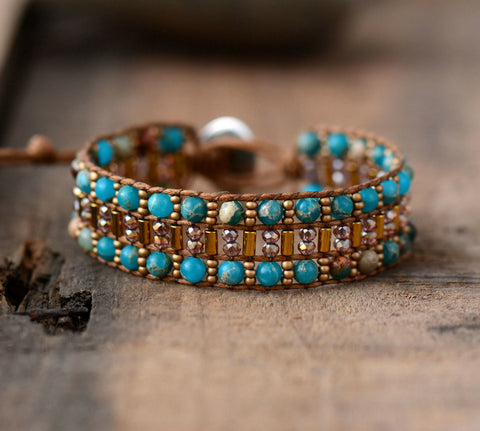 High End Woven Boho Cuff,  Boho, [product_collection], Lila's Beauty Bag