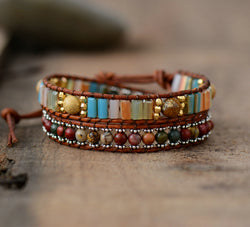 2 Strands Vintage Woven Bracelet,  Boho, [product_collection], Lila's Beauty Bag