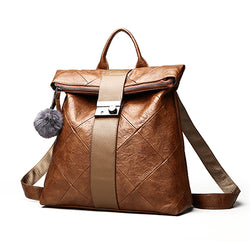 PU Leather Multifunction Big Backpack,  bag, [product_collection], Lila's Beauty Bag
