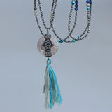 New Shell Pendant Long Necklace,  Boho, [product_collection], Lila's Beauty Bag