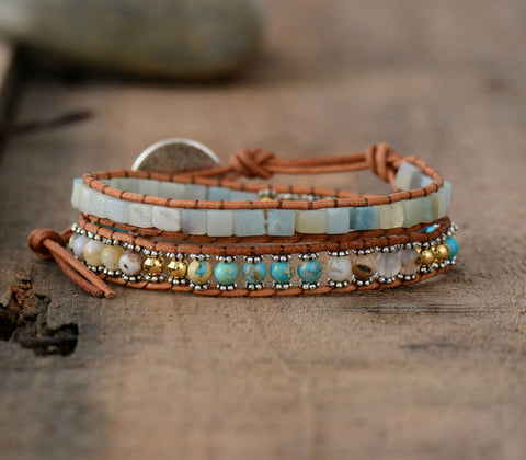 Cute Vintage Weaving Bead Bracelet,  Boho, [product_collection], Lila's Beauty Bag
