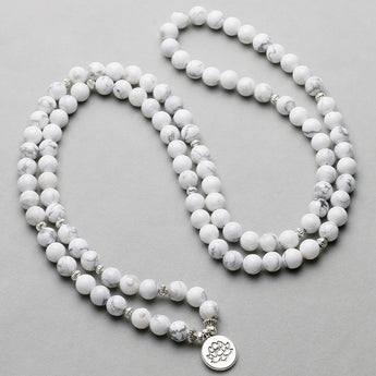 White Howlite Charm Yoga Bracelet,  , [product_collection], Lila's Beauty Bag