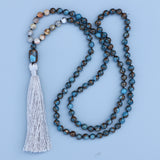Beautiful Mossic Stone Mala Necklace,  Mala, [product_collection], Lila's Beauty Bag