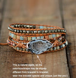 Handmade Natural Stones Drusy Charm Bracelet,  Boho, [product_collection], Lila's Beauty Bag