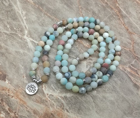 108 Beads Natural Stones Mala Necklaces,  Mala, [product_collection], Lila's Beauty Bag