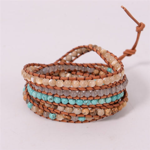 Pastel Colors Natural Stones Bracelet,  Boho, [product_collection], Lila's Beauty Bag