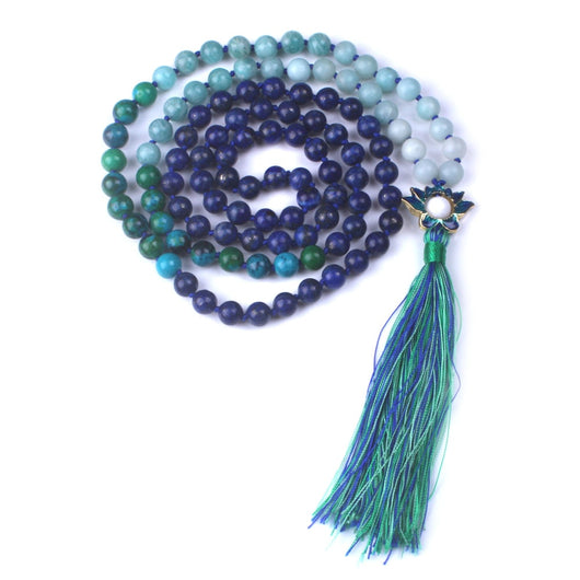 Lapis Lazuli and Amazonite Mala,  Mala, [product_collection], Lila's Beauty Bag