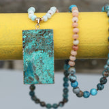 Ocean Stone Pendant Necklace,  multi layered necklace, [product_collection], Lila's Beauty Bag