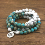 Lila's Beauty BagHowlite Natural Stone with Lotus MalaMala${product_tags}