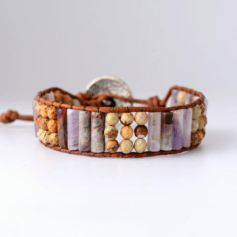 New Gypsy Jasper Bracelet,  Boho, [product_collection], Lila's Beauty Bag