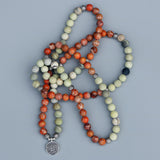 Lila's Beauty BagOrange Imperial Stone Mala NecklaceBoho${product_tags}