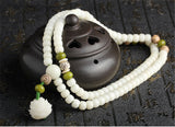 Lila's Beauty BagNatural White Bodhi Root Beads MalaMala${product_tags}