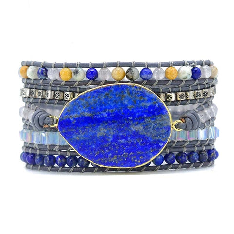 Lila's Beauty BagLapis and Crystals Boho BraceletBoho${product_tags}