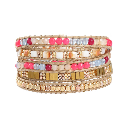 Lila's Beauty BagBoho Crystals Multi Color BraceletBoho${product_tags}