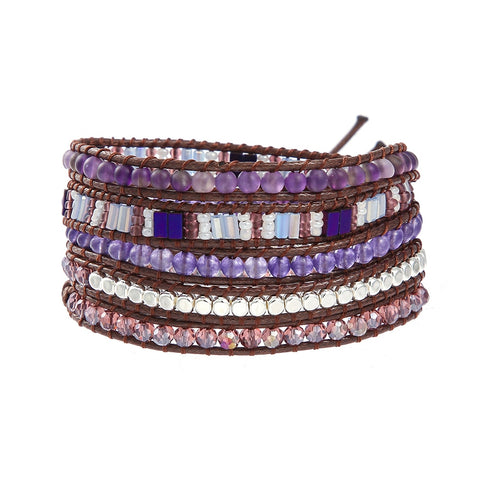 Lila's Beauty BagBohemian Purple Gemstone Statement BraceletBoho${product_tags}