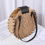 Lila's Beauty BagRound Straw Summer Beach Bagbag${product_tags}
