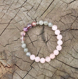 Rose Quartz and Labradorite Mala