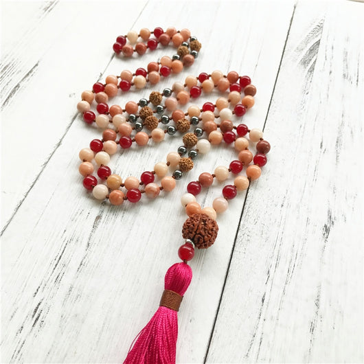 Lila's Beauty BagPink Aventurine and Rudraksha MalaMala${product_tags}