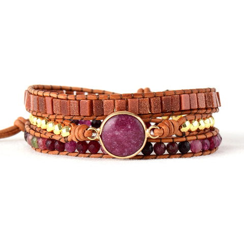 Lila's Beauty BagBangles 3 Strands Leather Wrap BraceletBoho${product_tags}