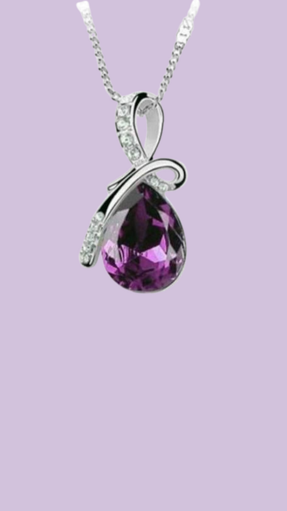 Mermaid Tear Necklace Purple
