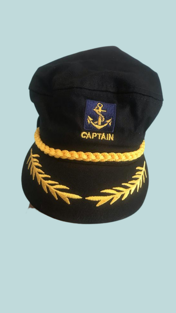 Black Captain Hat