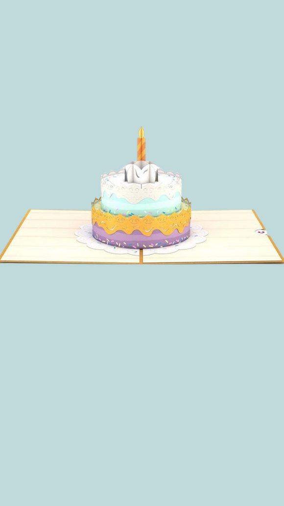 Happy birthday Cake Lovepop Card
