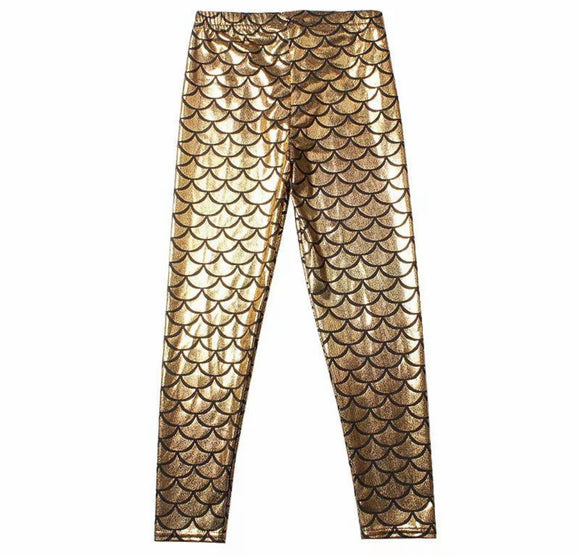 Gold child leggings