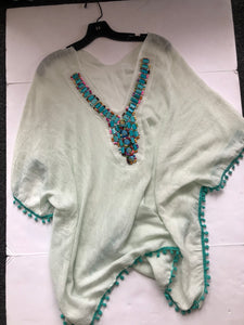 Beaded beach poncho