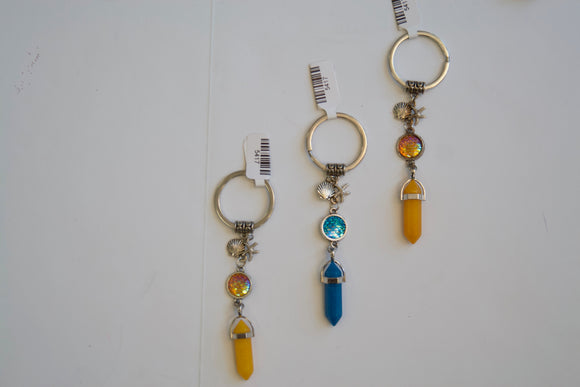 orange quarts keychain