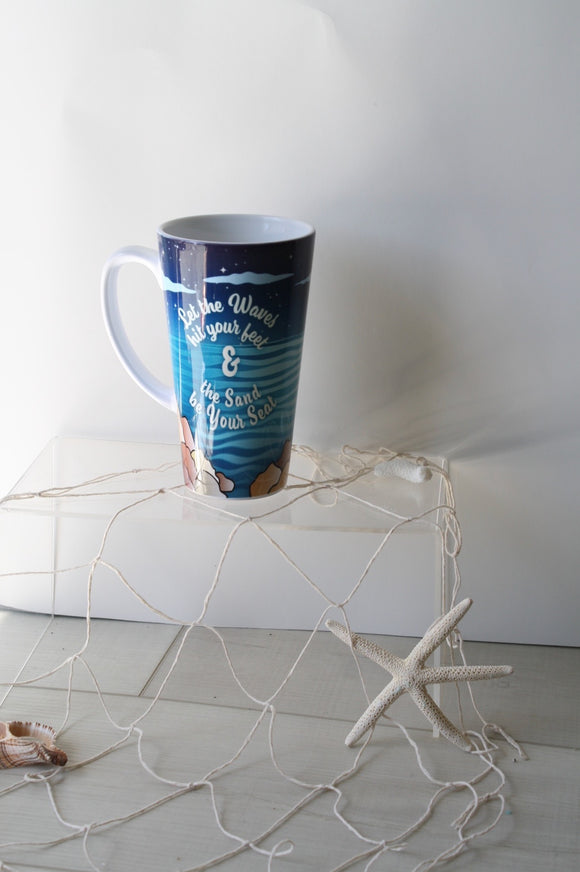 let the waves hit your feet mug