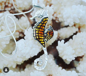 Baltic Amber L Seahorse Necklace