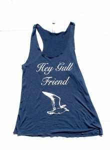 Hey Gull Friend Tank Top Navy