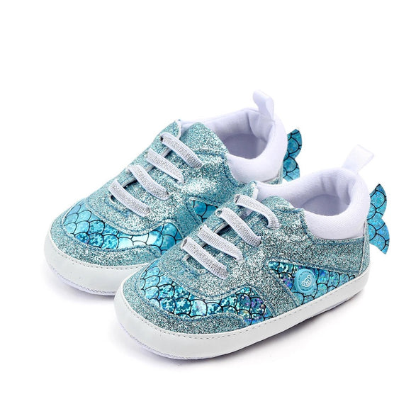 Mermaid Tail and Scales Baby Shoes (Sports Sneakers, First Walkers)