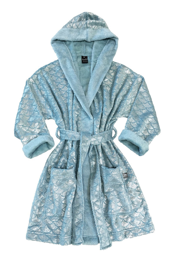 Adult Mermaid Robe ocean blue