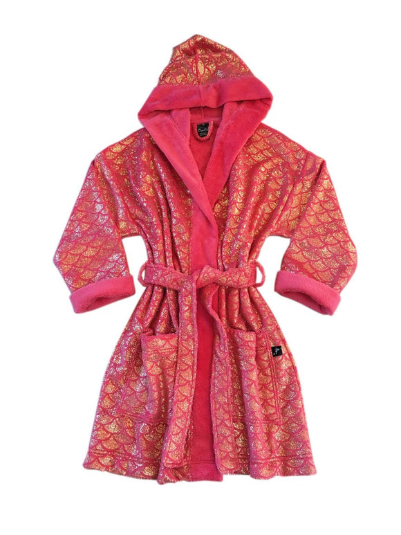 Adult Shorty Mermaid Robe Pink