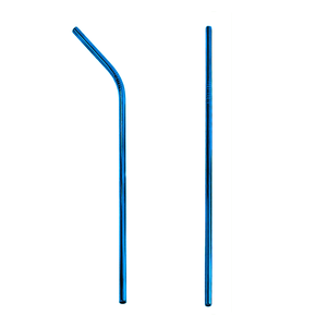 Ocean Blue Stainless Steel Straw (Single)