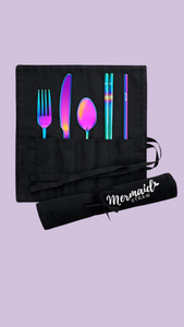 Mermaid Travel Set Black Wrap