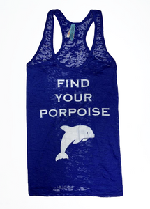 Find Your Porpoise Tank Top Blue