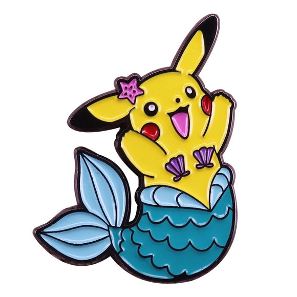 Cheered Pikachu soft enamel pin